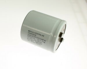 LOT of Two Mepco 5000uF 50V Large Can Electrolytic Capacitor 3188BE502U050BMA2