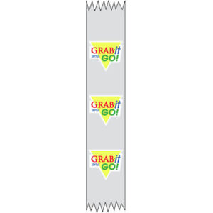 Tamper Evident Packaging Tape For Food Containers Transparent Clear Imprinted
