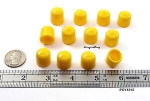 12 Push-On Pliable Vinyl Caps 1 1//2 Ht Plastic End Tips 3//16 Inner Dia