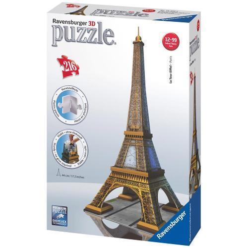 Puzzle 3D Torre Eiffel Tour Paris 216 Piezas Ravensburger 12556 Building