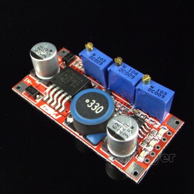 DC Converter Constant Current Voltage 5-35V to 1.3-30V LED Driver Charger LM2596