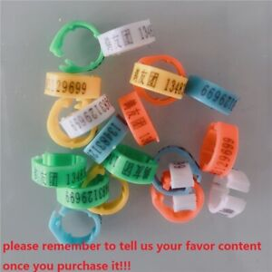 Details about Customized Personalized Plastic Rings Poultry Leg Bands Bird  Pigeon Parrot Chick