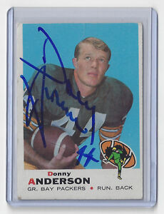1969-PACKERS-Donny-Anderson-signed-card-Topps-237-AUTO-Autographed-Green-Bay