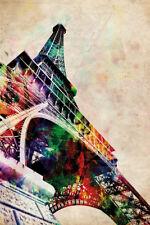 61X91.5cm Paris Eiffel Tower Car Art Poster Print 24X36