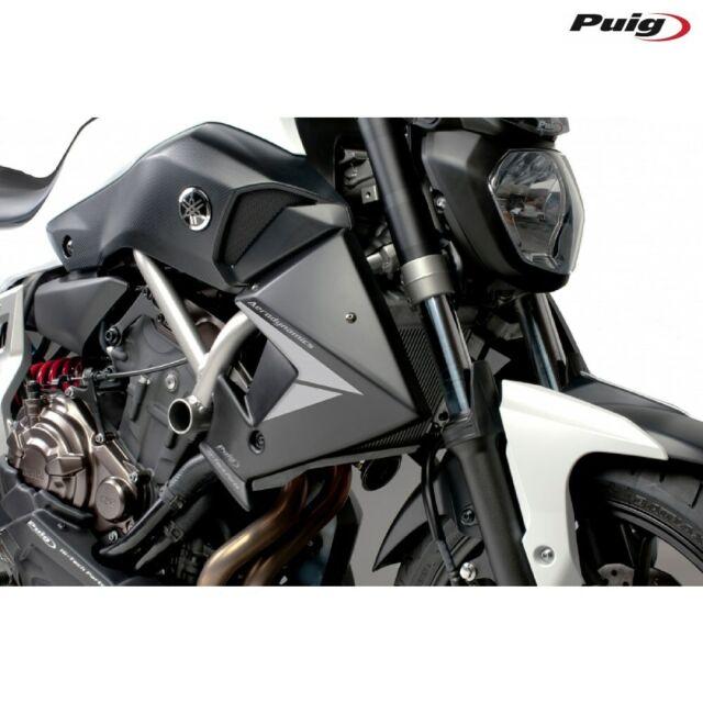 PUIG 7561J Pair Side Panels Radiator Aerodynamics Black Yamaha MT-07 14-18