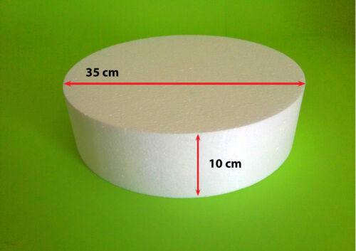Scheibe Ø 35 Höhe 10 cm Torte Rohling Dummy Hochzeit Cake Pop Grundlage Styropor