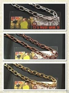 3 Meters Oval Link Gold Silver Red Copper Antique Bronze