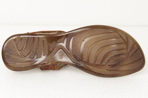 Chaussures femme 232 bout ouvert style cuir véritable Huarache Sandale Bride Cheville Marron