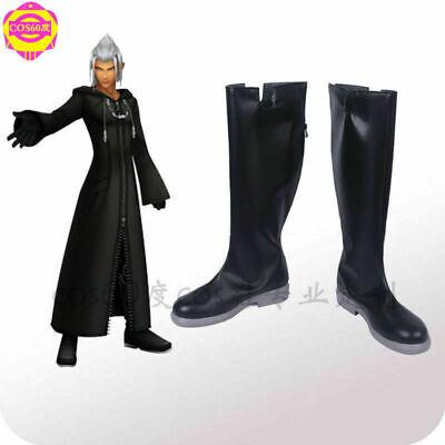 Kingdom Hearts II 2 Cloak Organization XIII 13 Cosplay Shoes Custom Made/&