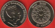 """Denmark 20 kroner 2020 """"80th Birthday of HM Queen Margrethe II"""" UNC"""