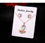 Fashion-Luxury-Women-Rose-Gold-Crystal-Necklace-Ring-Earring-Jewelry-Gift-Sets thumbnail 9