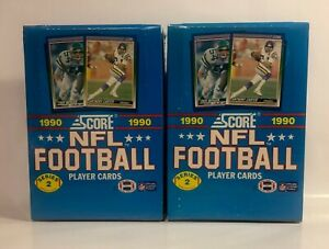 2-1990-Score-Football-series-2-Football-factory-sealed-card-boxes