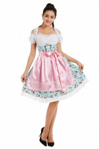 Ladies Oktoberfest Costume Bavarian Beer Maid Fancy Dress Wench German Gretchen