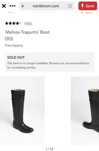 Frye Melissa Trapunto Black Leather Tall Riding Bo