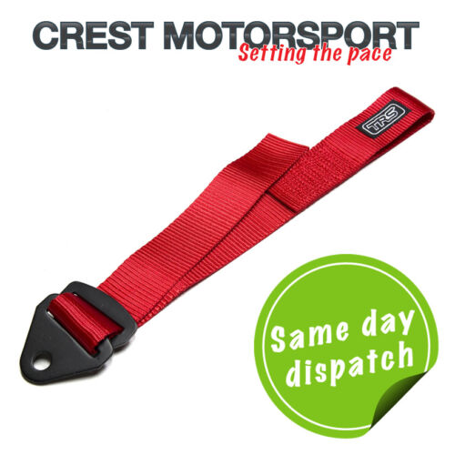 Race//Rally//Competition MSA Compliant TRS Adjustable Tow Eye Strap//Loop RED