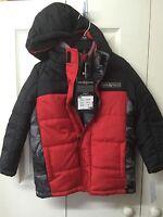 Zeroxposur Boys Winter Jacket Size 5/6 Red Black Water Wind Resistant Snow Coat