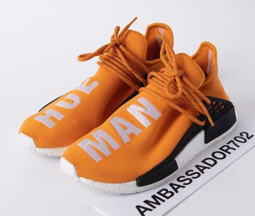 Adidas NMD R1 Pharrell HU Hue Man Human Race Tangerine orange size 8.5 VNDS