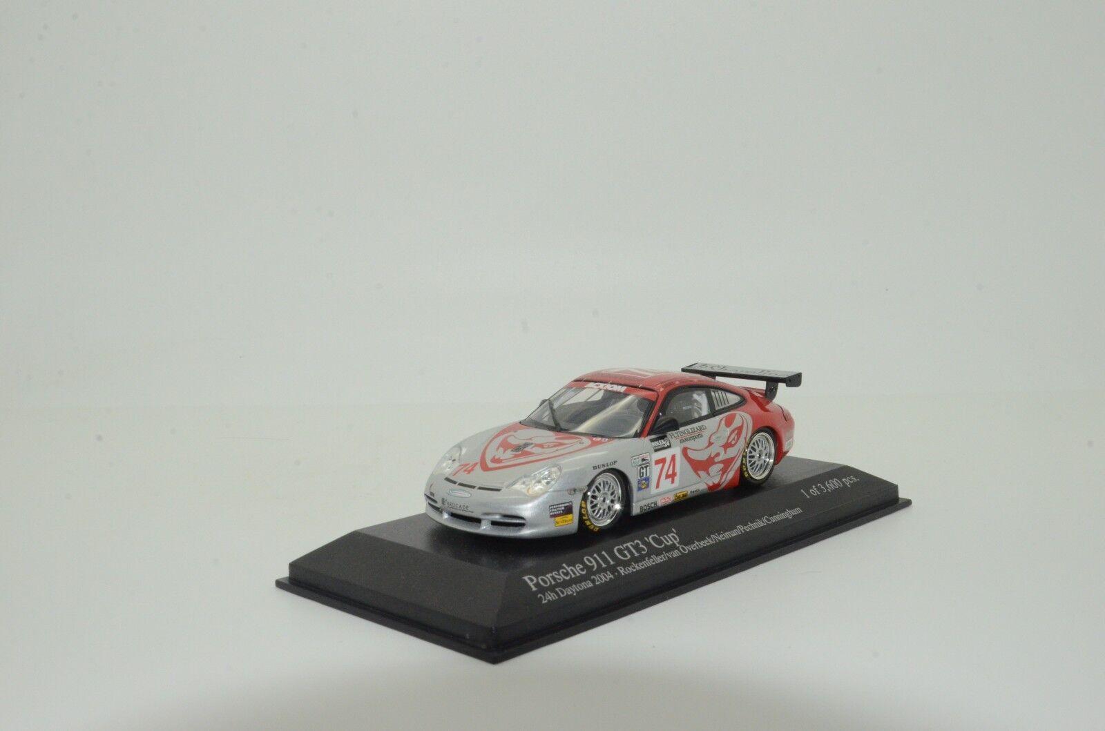 Rare      Porsche 911 GT3 24h Daytona 2004 Minichamps 046274 1 43 d7aa7e