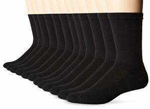 Hanes Men's Big and Tall FreshIQ X-Temp Active Cool Crew Socks 12-Pack Black ...