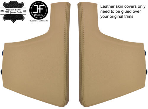 BEIGE REAL LEATHER CONSOLE SIDE TRIM COVER FOR PORSCHE 997 CARRERA STYLE2