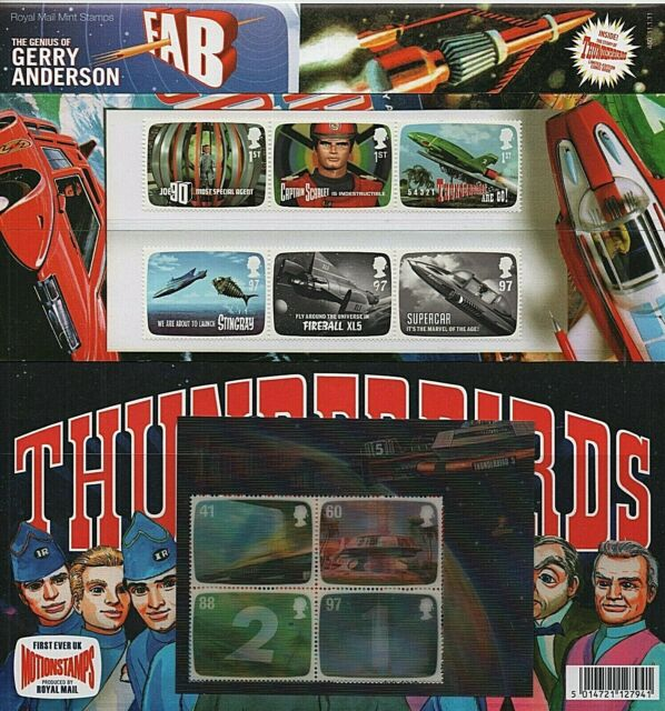 GB Stamps 2011 'Gerry Anderson - Thunderbirds' Presentation Pack #450