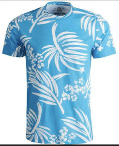 American-Rag-Men-039-s-XL-Tropical-Graphic-T-Shirt-Blue