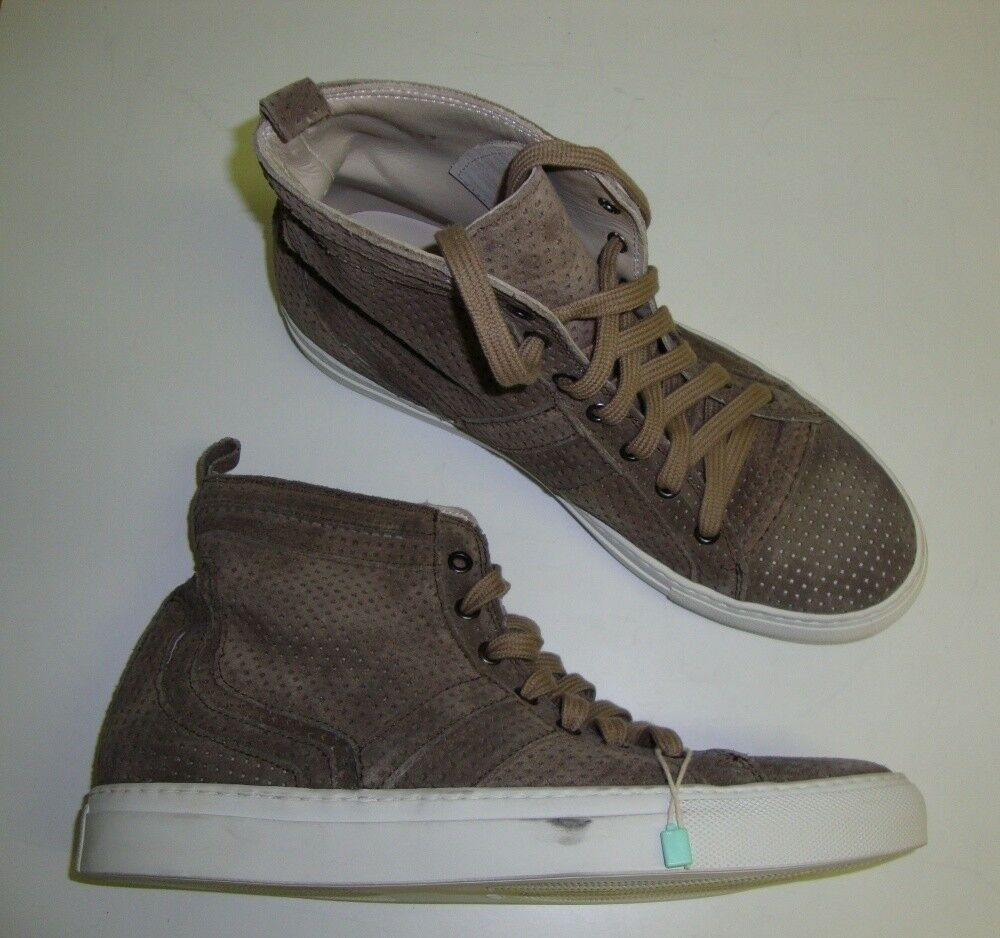LES HOMMES Sport Herren high Sneakers Turnschuhe Sport HOMMES AUSSTELLUNGSSTÜCK braun 40 NEU 166013