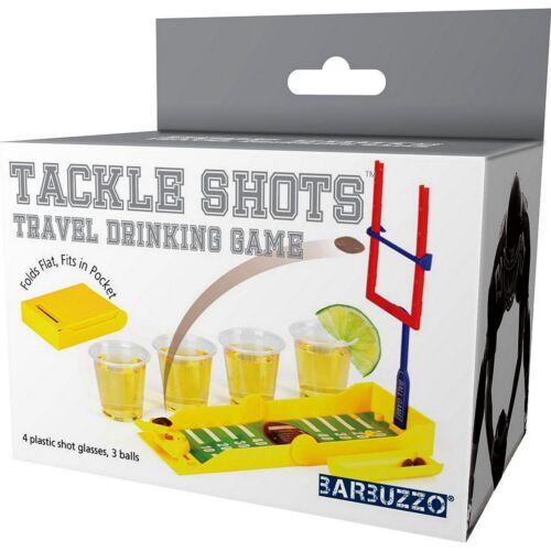 Juegos de beber Adulto Fiesta Juego De Fútbol Vasos de Chupito NFL Tackle Tamaño De Viaje Nuevo