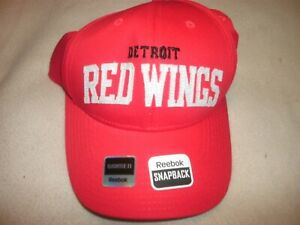 Image is loading Structured-Adjustable-Snapback-Womens-Red-Wings-Cap-B4 76547044d