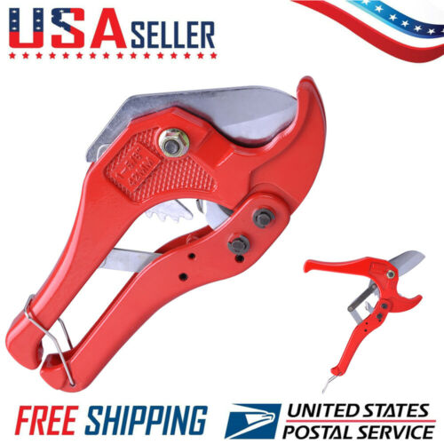 Cutter Ratcheting Plumbing Cutting Tool 1-5//8 In Tube Hose PEX Pipe PVC