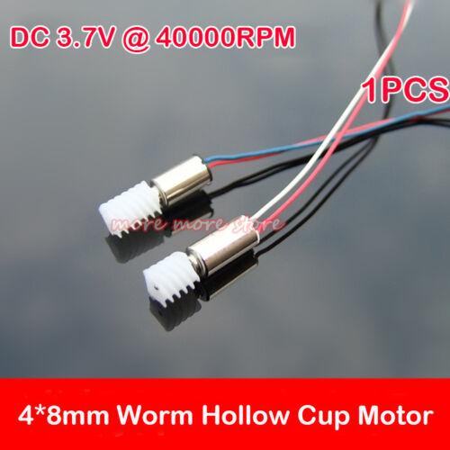 DC 3.7V 40000RPM High Speed Worm Gear Mini 4mm*8mm Coreless Motor DIY Toy Module