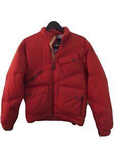 Women-s-Small-Burton-Orange-Full-Zip-Ski-Snowboard-Puffer-Jacket-Goose-Down
