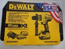 """DEWALT DCD996P2 20V 20 Volt max Li-Ion 1/2"""" Hammerdrill Kit w/ DCB205-2 DCB115"""