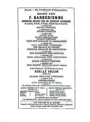 Bronzes D'Art F. Barbedienne : Recompenses Obtenues Dans Les Expositions Univ...