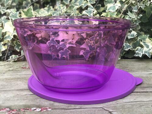 Tupperware Acrylic Salad Bowl 5.5L Lilac Preludio Bowl New +//- 23 Cups