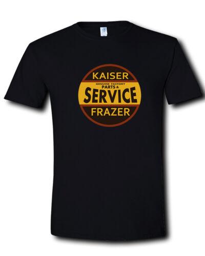 Kaiser-Frazer Service Logo Classic Luxury Cars Automotive Black T-Shirt S 2XL