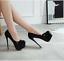 thumbnail 4 - Evening Sexy Women High Heels Slip On Stilettos Faux Leather Platform Pumps Shoe