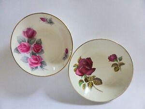 Swinnertons-English-Dessert-Bowls-Pair-of-Floral-China-Rose-Bowls-1940s