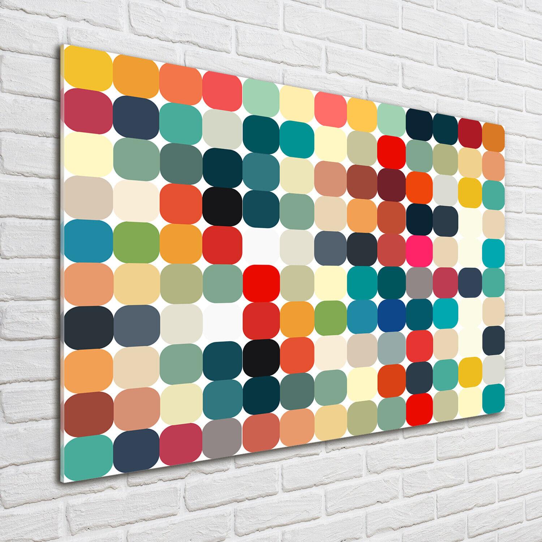 Acrylglas-Bild Wandbilder Druck 100x70 Deko Kunst Geometrische Figuren