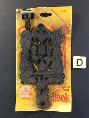 Home & Garden Nos Cast Iron Ornate Decorative Hanging Hook Glorious Vtg