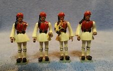 LOT OF 4 VINTAGE AOHNA TOY BAND SOLDIERS MADE IN GREECE