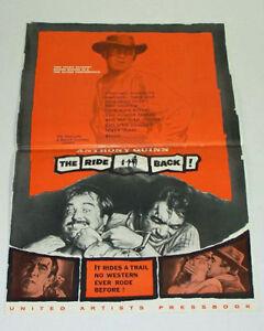 THE-RIDE-BACK-1957-Movie-Film-PRESSBOOK-Anthony-Quinn