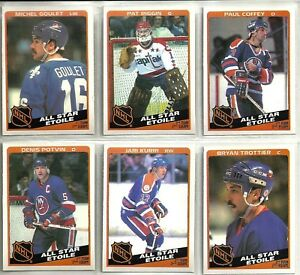 1984-85 O-Pee-Chee Hockey 12-card All Star Subset Wayne Gretzky Ray ... 37af2d111
