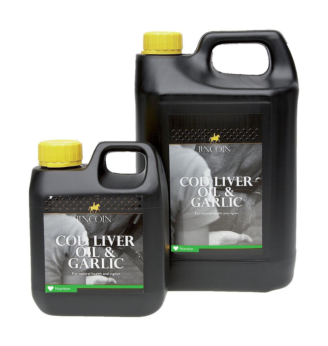 Lincoln Cod Liver Oil & Garlic 1litre and 4Litre PR-4099