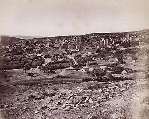 Nazareth Palestina Israele Foto Albumina Stampa Verso 1890 Piccolo Formato