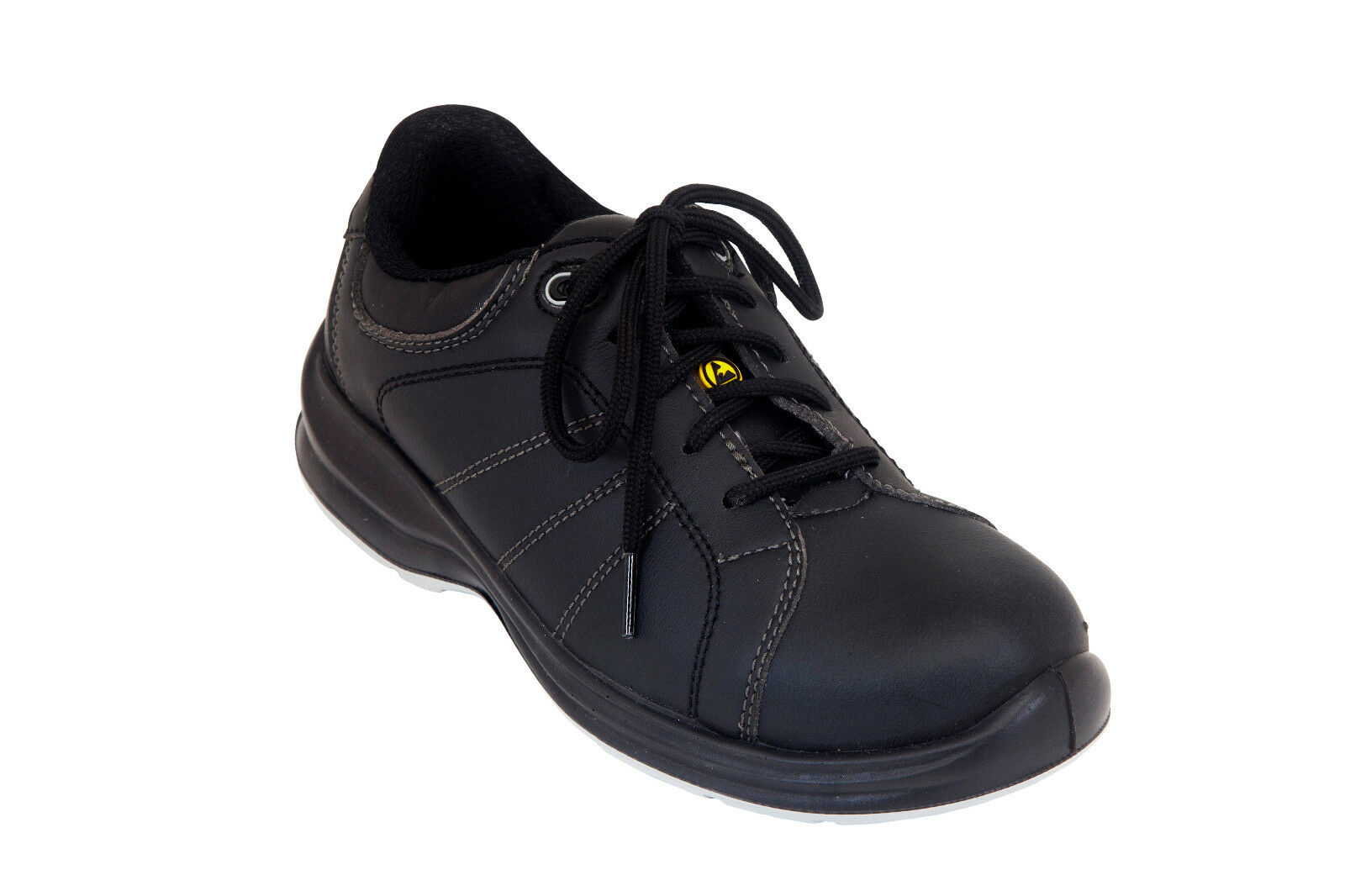 Giasco Malmo Slip-Resistant Italian Imported Leather Work shoes Rubber Sole Black