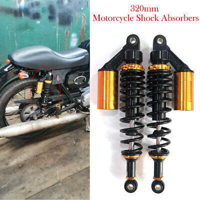 1 pair 7mm Spring Motorcycle 350mm Air Shock Absorbers Rear Suspension Compatible Honda Yamaha Suzuki,Red