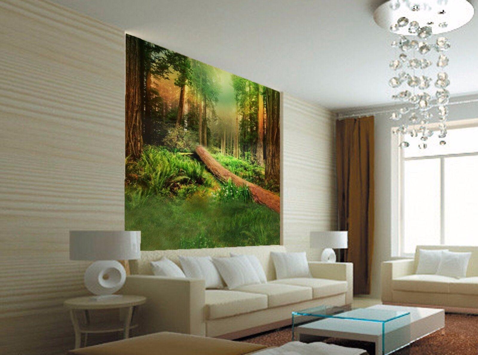 3D Forest tropical Grün art wall Paper Print Decal Wall Murals AJ WALLPAPER GB