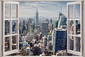 Huge-3D-Window-view-New-York-City-Wall-Sticker-Film-Mural-Art-Decal-329