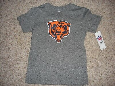 ac964ec7 NWT NFL Chicago Bears Team Apparel gray t-shirt youth boys (S) 6/7 Bear  Head   eBay